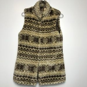 Forever 21 Faux Fur Vest Size Small